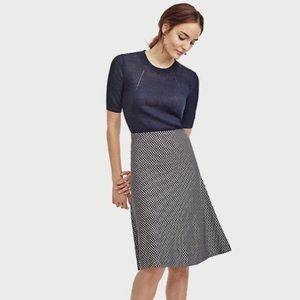 Ann Taylor Diamond Flared Knit Skirt Size Large